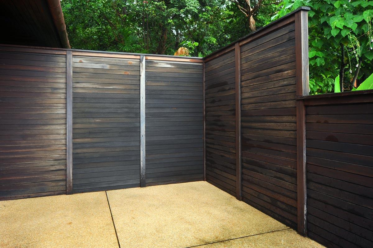 Cierres de madera para terrazas materiales de construcci n para la reparaci n - Vallas jardin segunda mano ...
