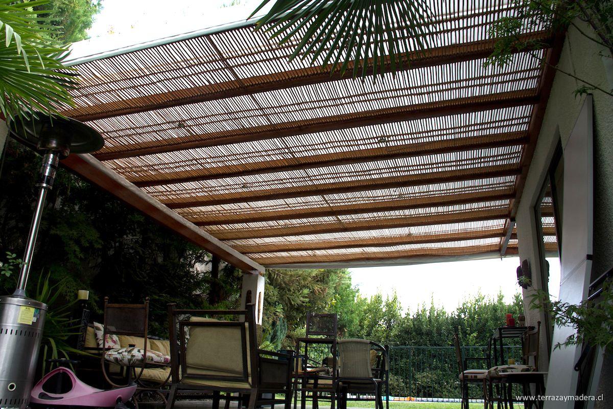 Terrazas de madera terraza y madera for Ideas de techos para terrazas