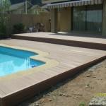 Deck para borde de piscina