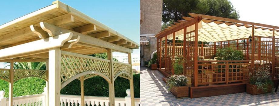 P rgolas de madera reparaciones y mantenimiento peri dico - Techos para pergolas de madera ...