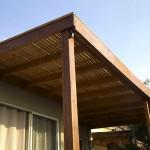 Cobertizo de terraza en madera