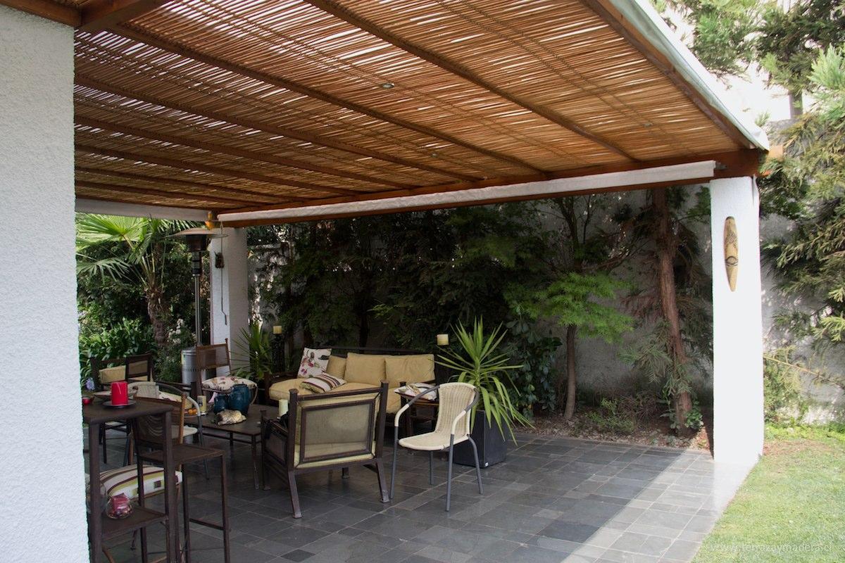 Terrazas de madera terraza y madera for Techos de metal para terrazas